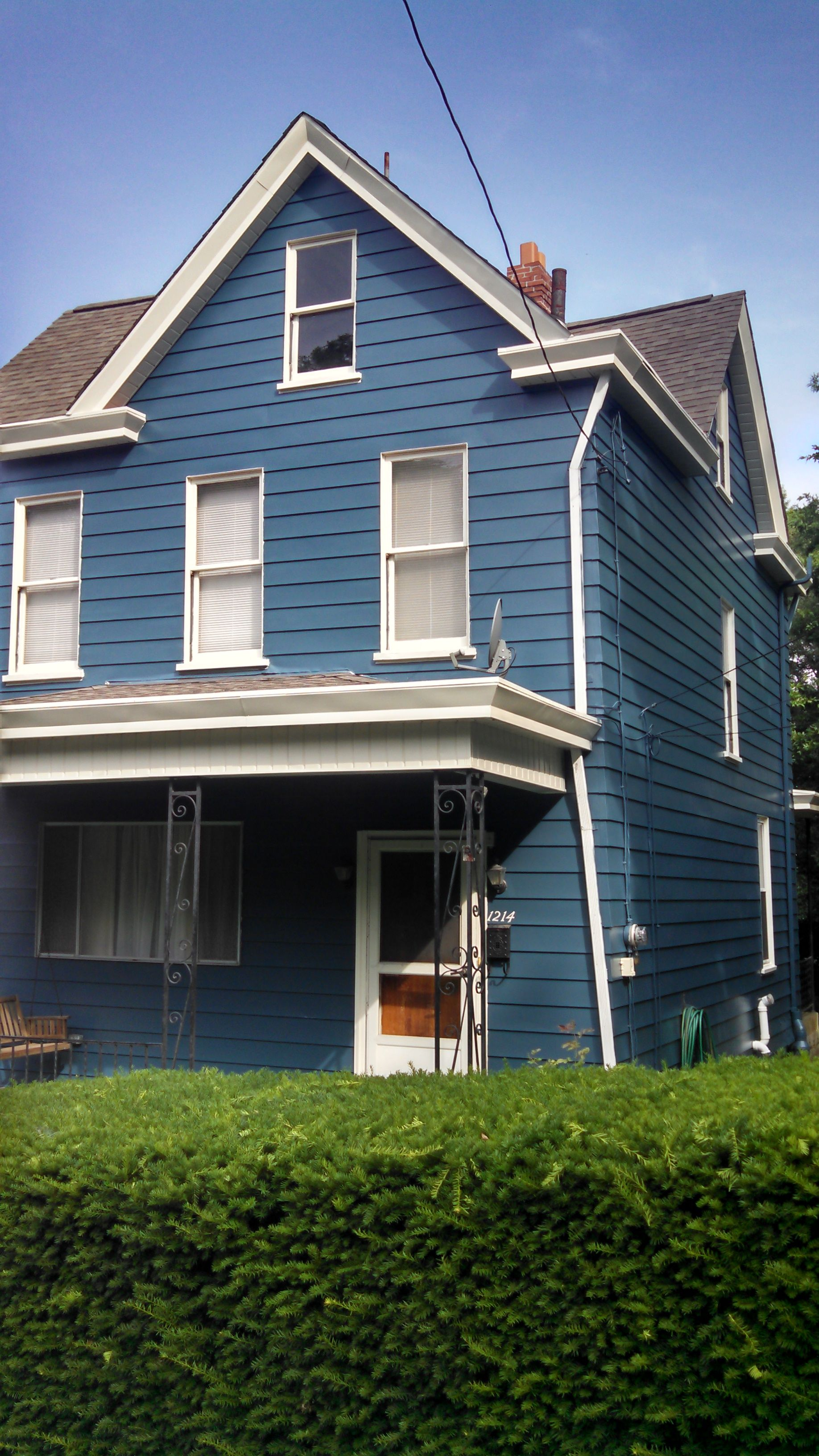 After pic aluminum siding u trim north side pittsburgh july