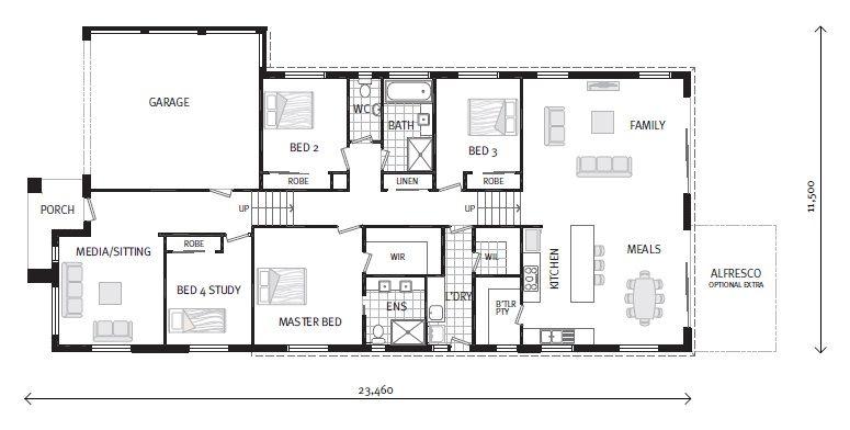 prague, our designs, g.j. gardner homes bacchus marsh | house plan