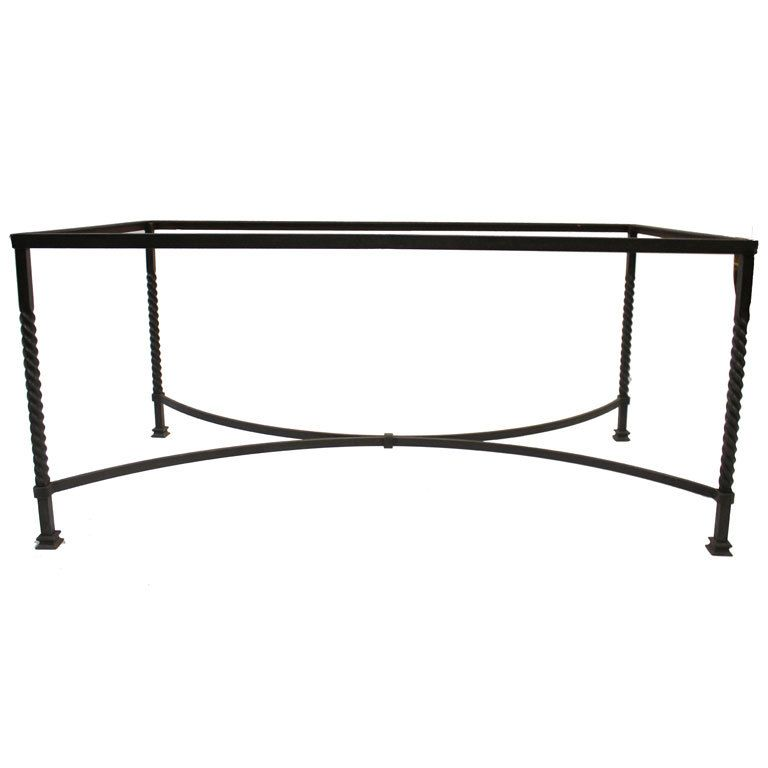 Wrought Iron Table Base | Dining rooms, Furniture and Iron table