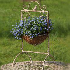 Antique White Hanging Basket