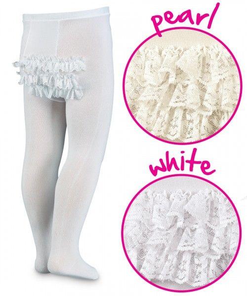 Jefferies Socks Little Girls  Fancy Bow Tight