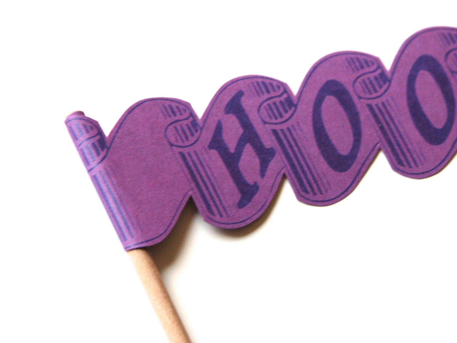 Hooray Party Pennant Flag - Beet Purple. $3.00, via Etsy.