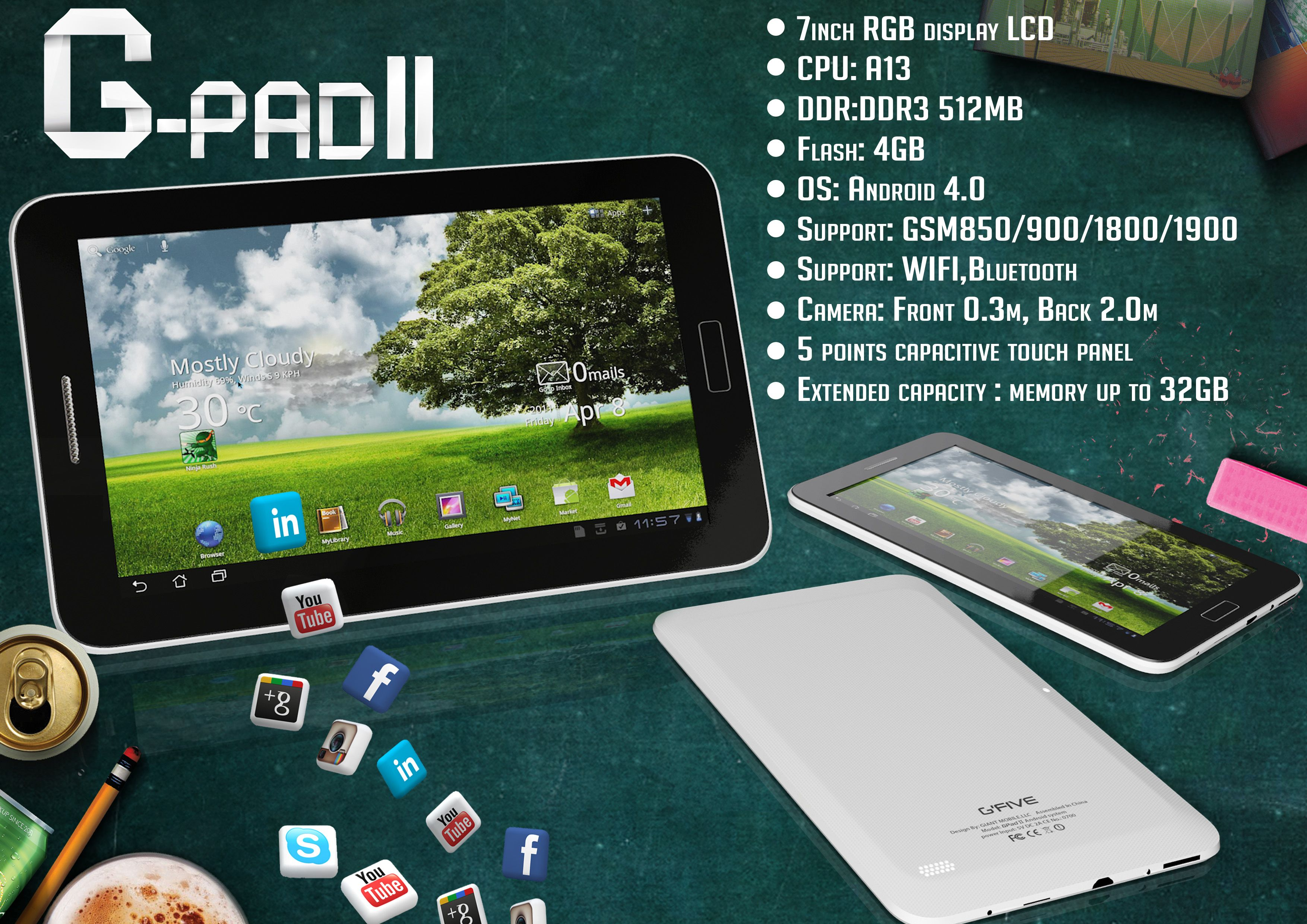 g-pad ii g'five mobile introducing first time g-pad ii in pakistan