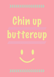 nursery wall print // FREE motivational quote journaling card – chin up