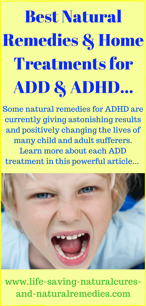 Was Add adult natural treatment are mistaken