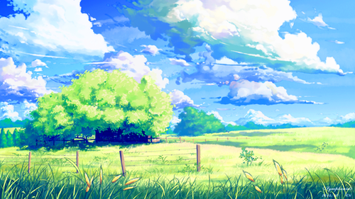 untitled landscape art painting anime scenery landscape art