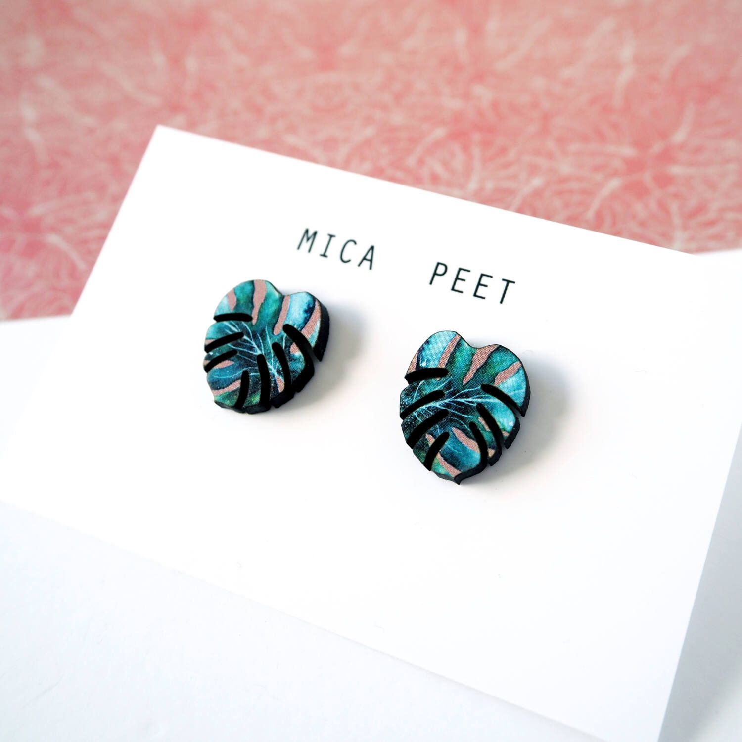 93d9ec6a3 Tropical Stud Earrings - Monstera Studs - Jewellery For Women - Laser Cut  Earrings - Jungle