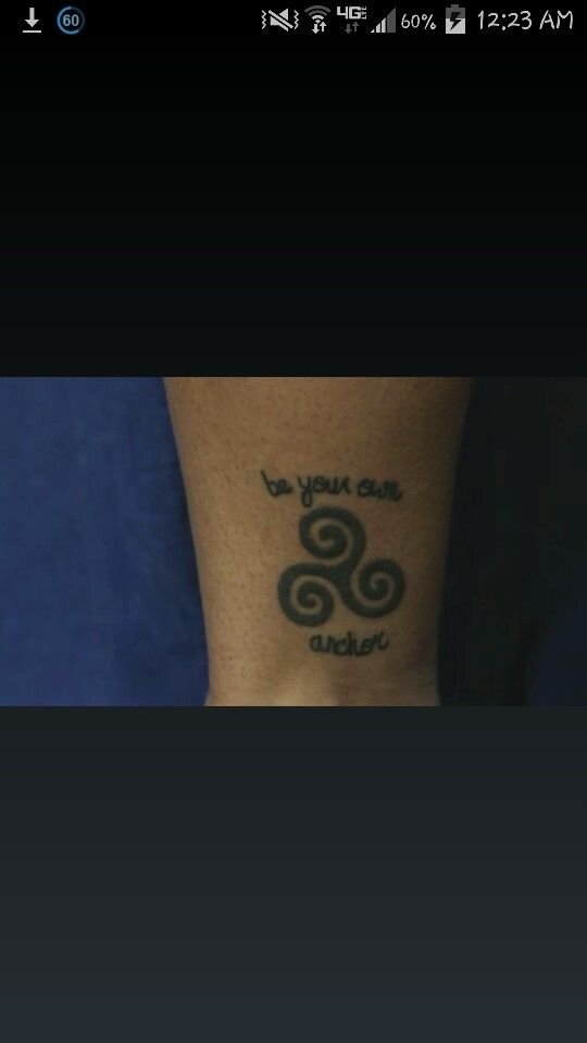 Teen Wolf Be Your Own Anchor With A Triskelion Inked Tattoos