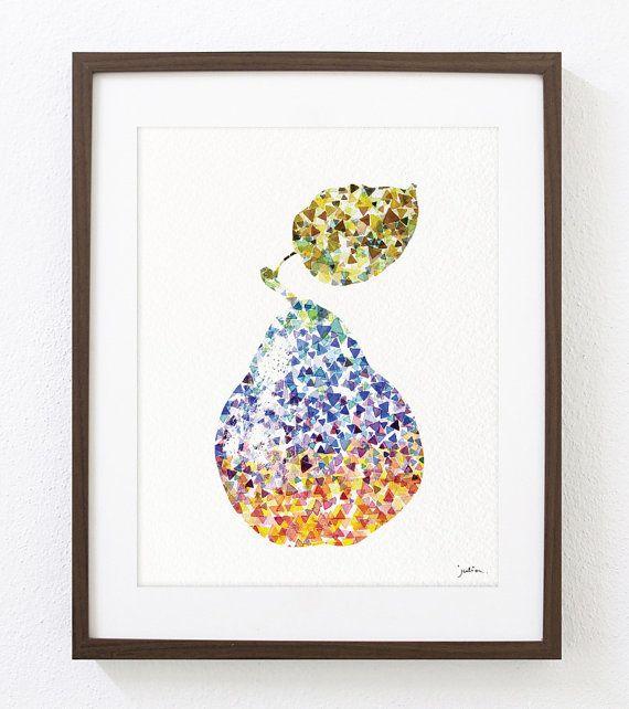 Pear art print geometric pear wall decor art prints by elfshoppe pear art print geometric pear wall decor art prints by elfshoppe 2000 solutioingenieria Gallery