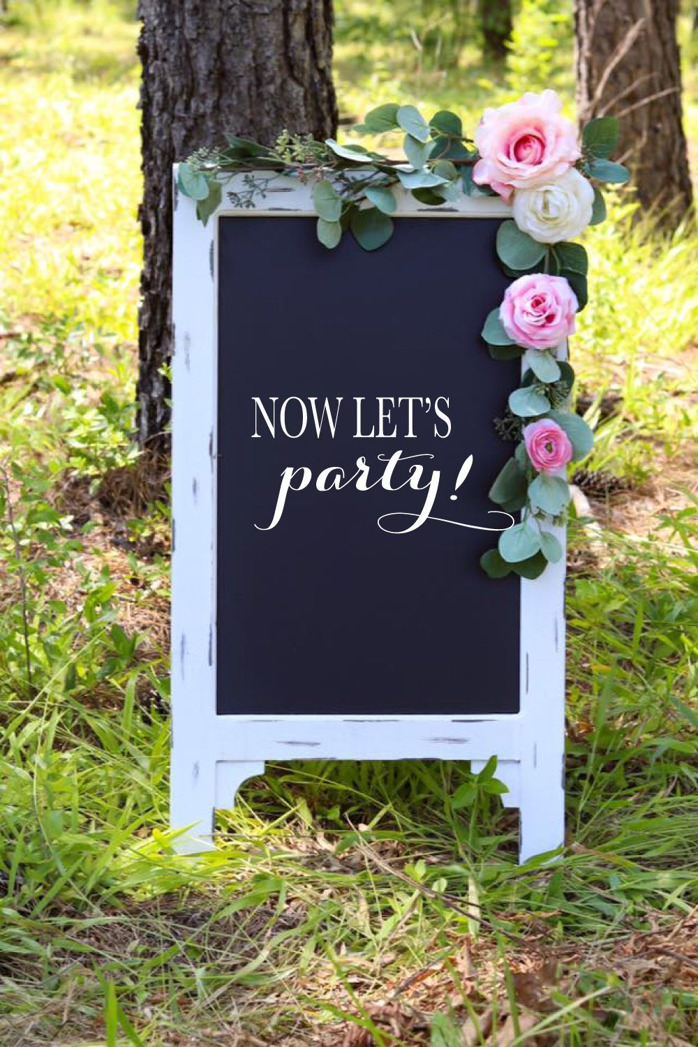 Wedding Decor Signs Magnificent Now Let's Party Chalkboard Easel Custom Wood Wedding Decor Sign Design Ideas
