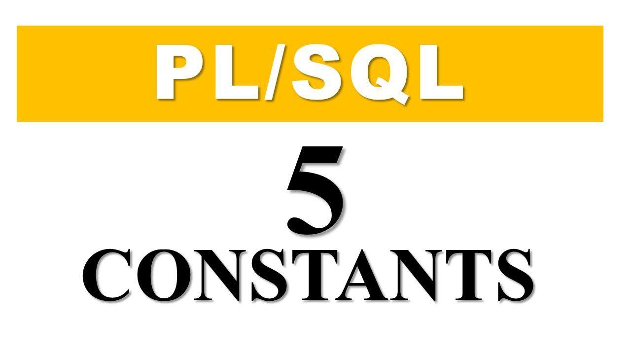 Plsql tutorial 5 constants in plsql by manish sharma plsql tutorial 5 constants in plsql by manish sharma rebellionrider baditri Gallery