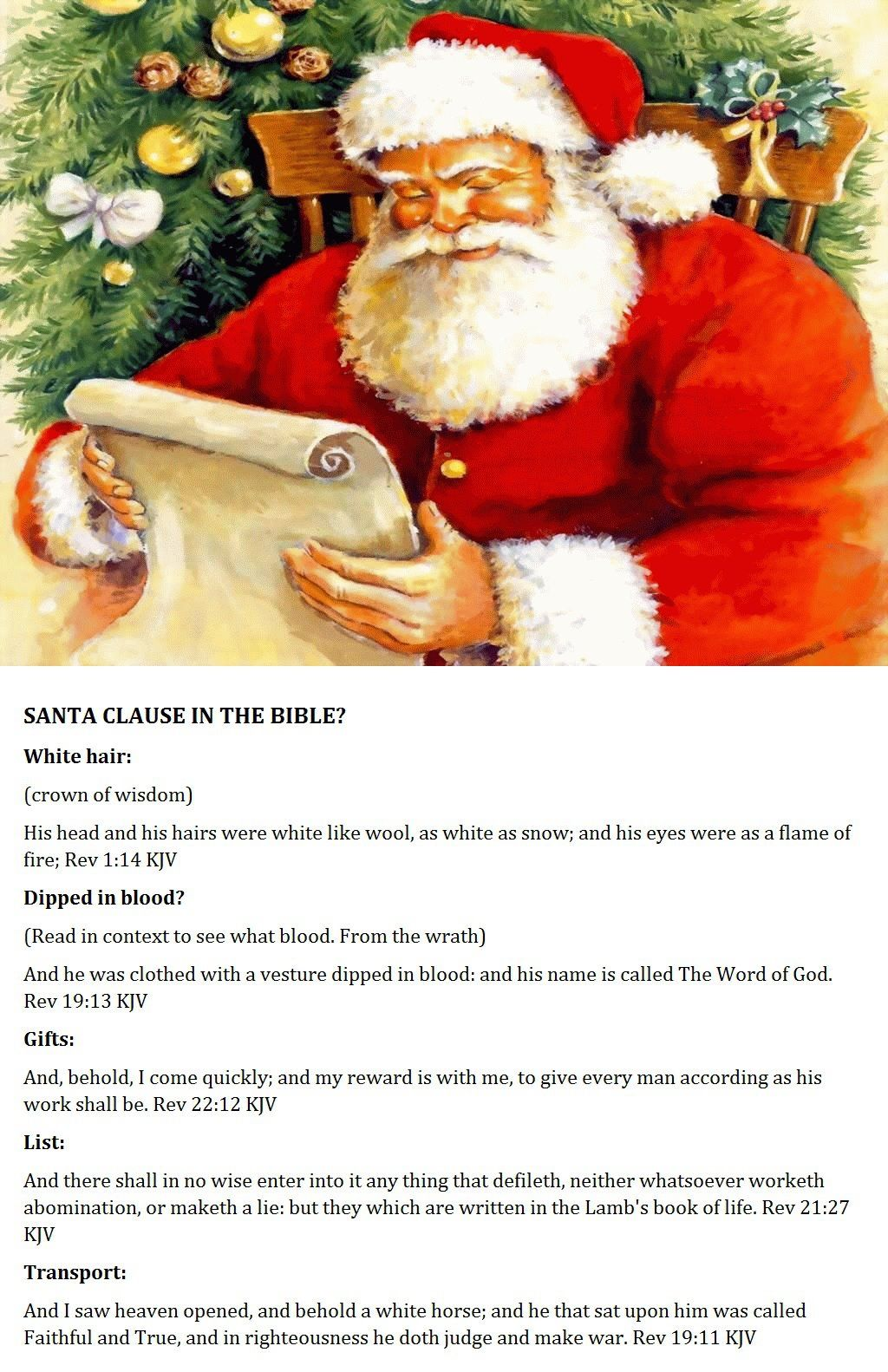 Santa Clause in the Bible? | Posters | Pinterest | Santa and Bible