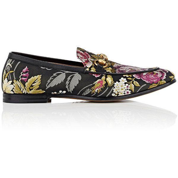 Gucci Men's Floral Jacquard Loafers