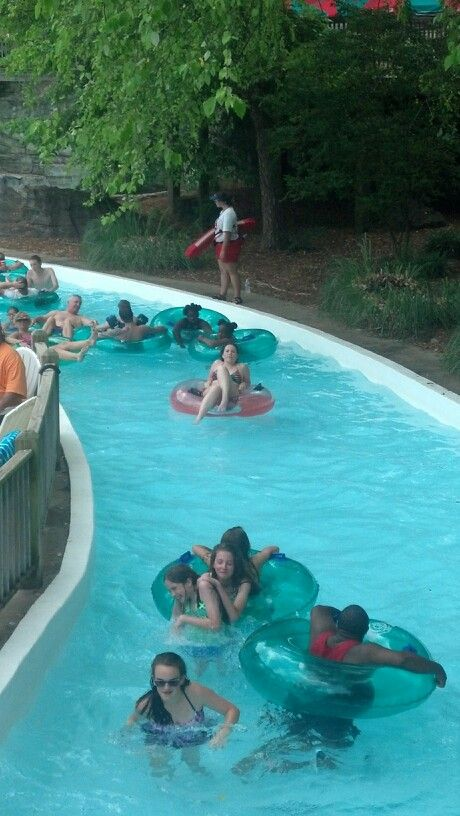 At the lazy river
