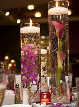 Centros de mesa con bases y jarrones de - Cristales para mesa ...