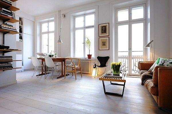 Best Cool Studio Apartment Ideas For Men Wooden Floor Brown 400 x 300