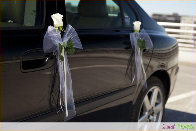 Kokarda Z Roza 2szt Dekoracja Samochodu 35cm 3244076691 Oficjalne Archiwum Allegro Wedding Car Wedding Deco Wedding Bouquets
