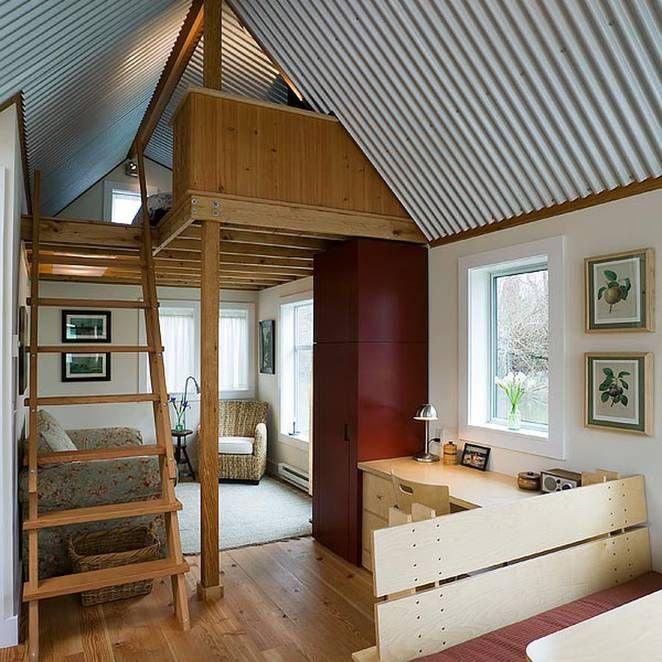 Riverside 433 Sq Ft Guest Cottage Is A Roomy Floating Retreat Planuri Casă Interioare Case Case
