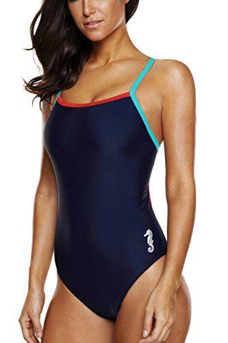 1f49177b0f CharmLeaks Charmleaks Women's Sexy Halter One Piece Swimsuit Bathing Suits  Swimwear