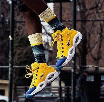 c43d5f5931f2 NEW Reebok Question Mid OG V72127 Allen Iverson All Star Warriors Yellow  8-13 for
