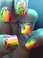 Photo of Neon Doodles by BlakSandz from Nail Art Gallery