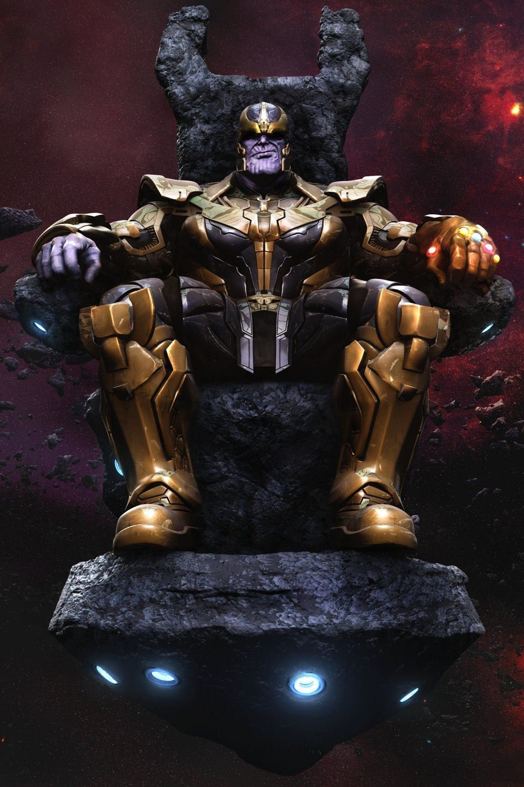 Thanos on Throne by 3D artist MARS [Artstation] (Marvel