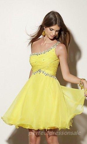 yellow homcoming dress