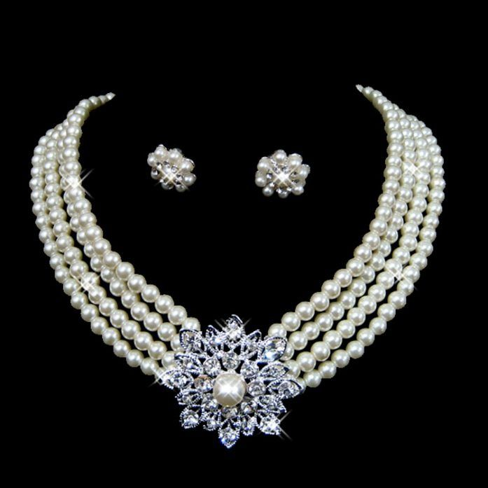 Classic Accessories For Wedding Day Jewelry Sets Gift Wedding