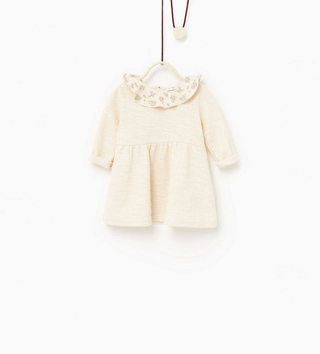 Embroidered Dress Dresses Baby Girl Baby 3 Months 3 Years Kids Zara United States Baby Girl Dresses Embroidered Dress Zara Baby Clothes