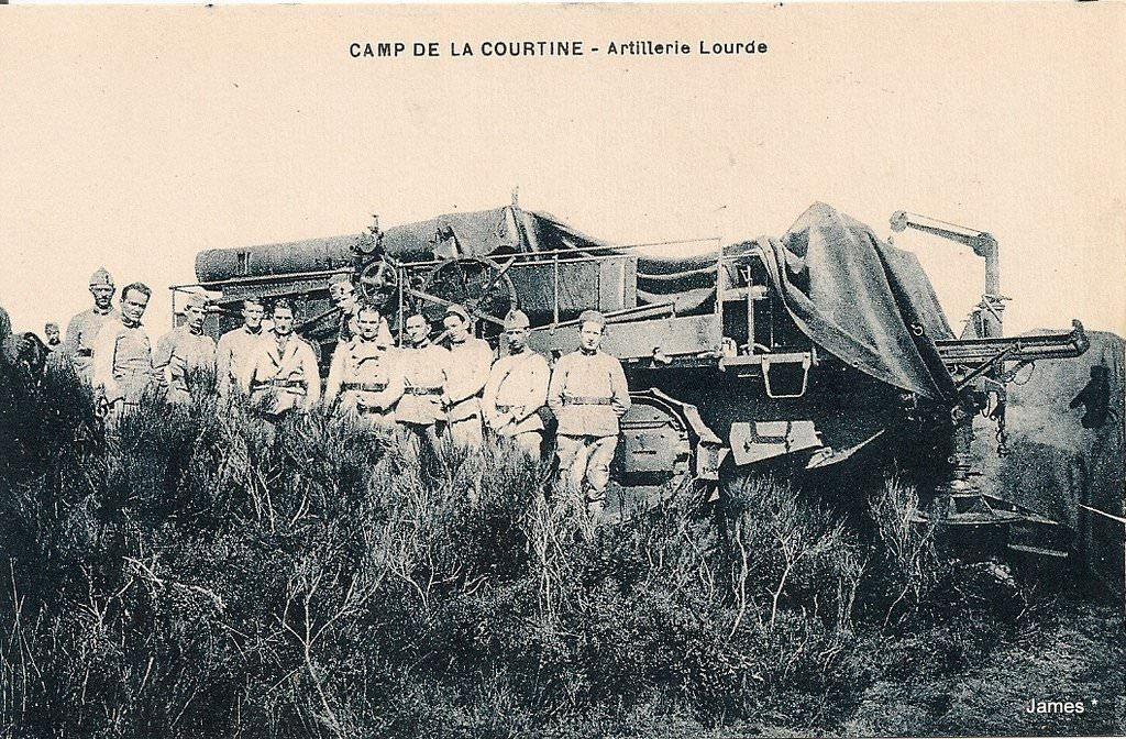 CAMP DE LA COURTINE - Artillerie Lourde