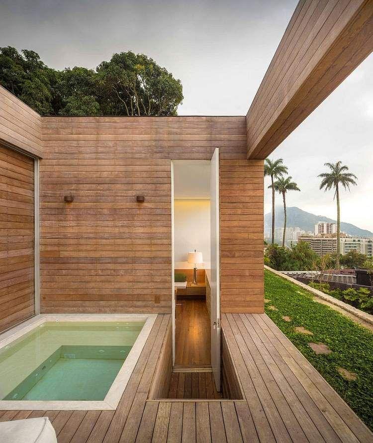 jacuzzi ext rieur sur terrasse ou dans le jardin en 57 photos superbes architecture. Black Bedroom Furniture Sets. Home Design Ideas