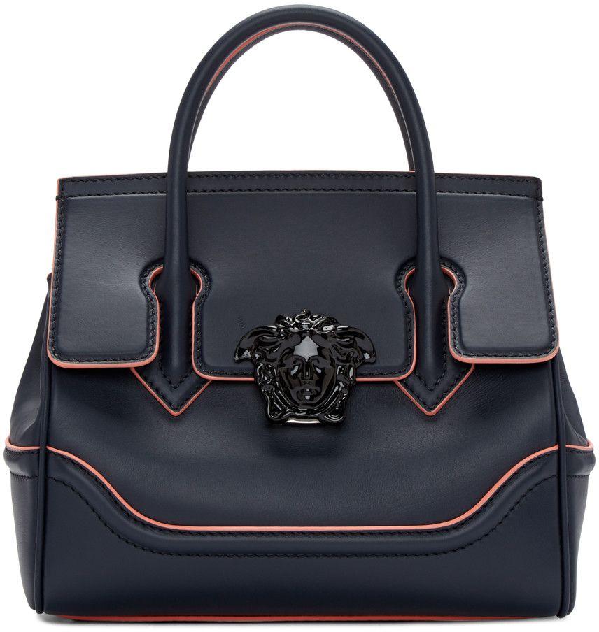Versace - Navy Medium Medusa Bag