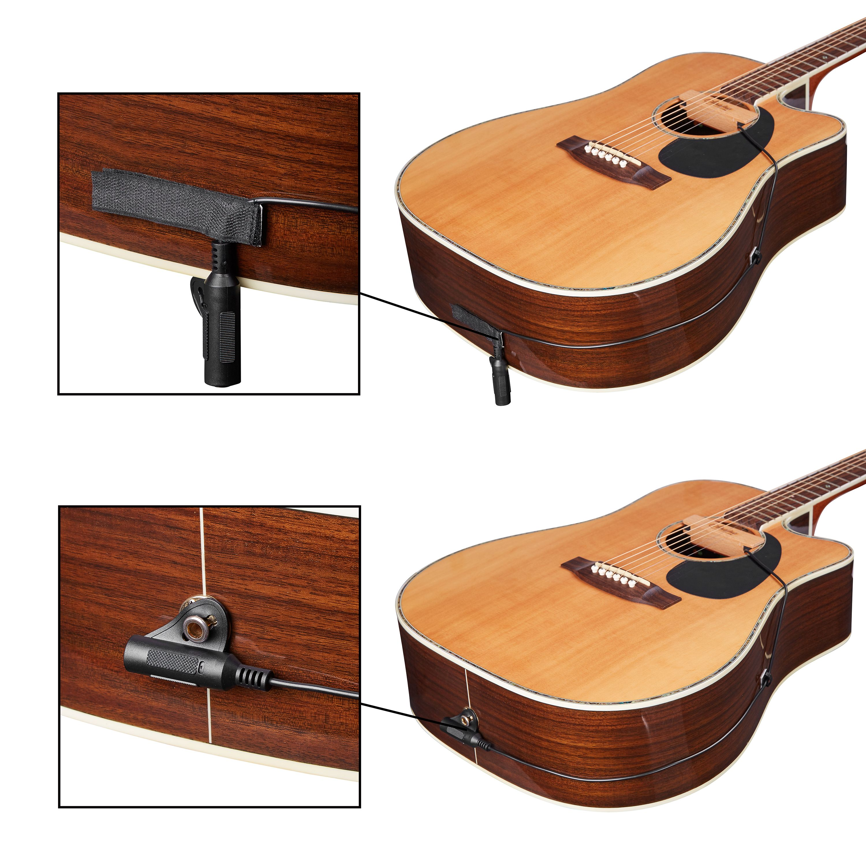 Amumu Wood Pickup For Acoustic Guitar Easy To Install No Need Any Tools Guitar Acoustic Guitar Acoustic