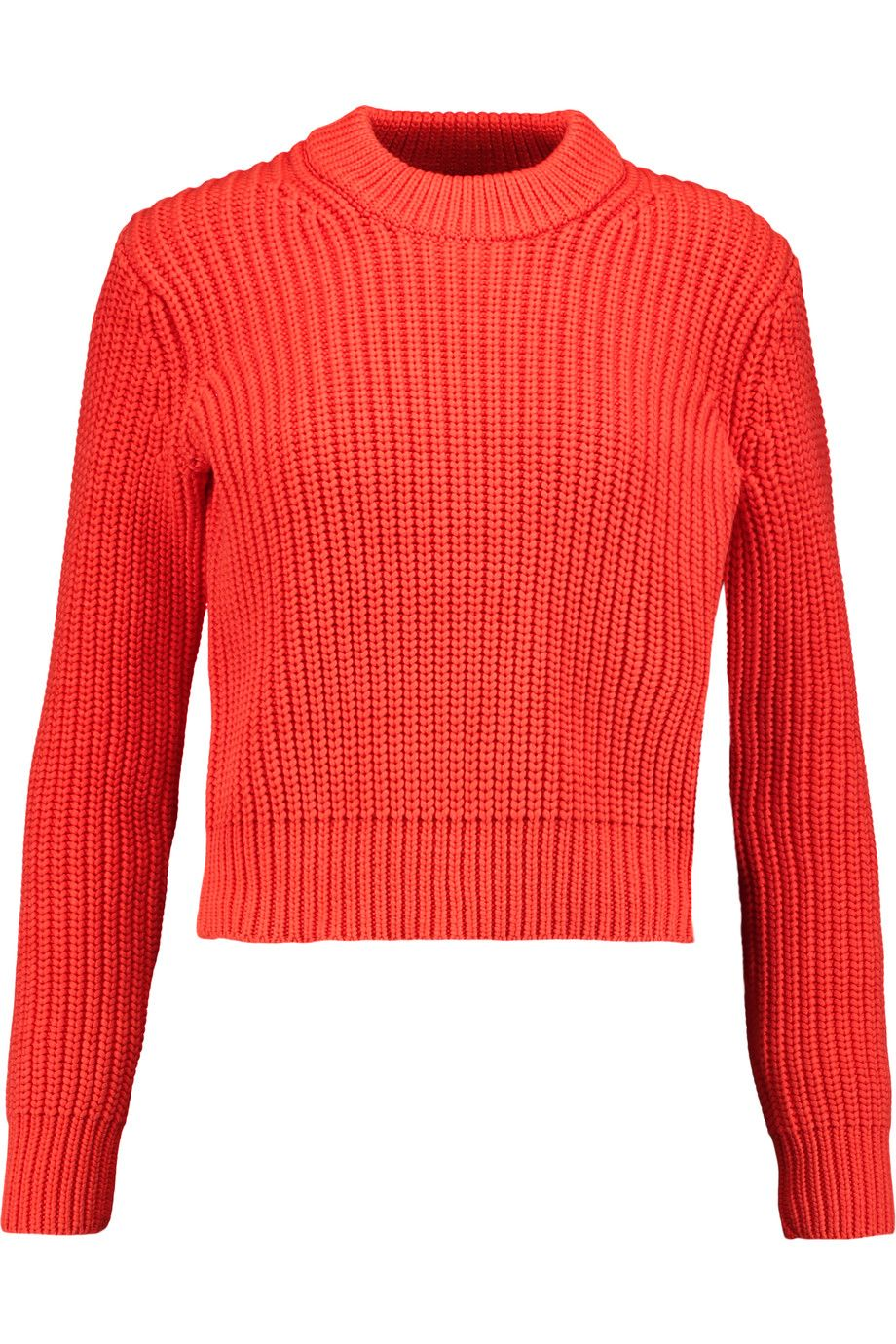 Shop on-sale T by Alexander Wang Ribbed-knit cotton-blend sweater ...