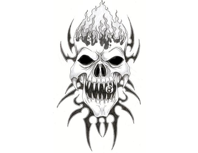 Tribal Evil Skull Tattoo Evil Skull Tattoo Tribal Skull Skull Tattoo Design