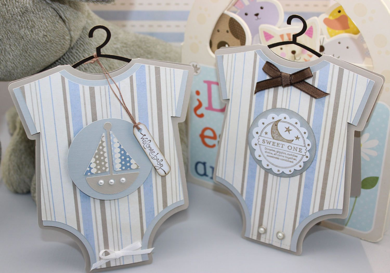 Baby Onesie Cards Baby Shower Invitation Baby Handmade Cards