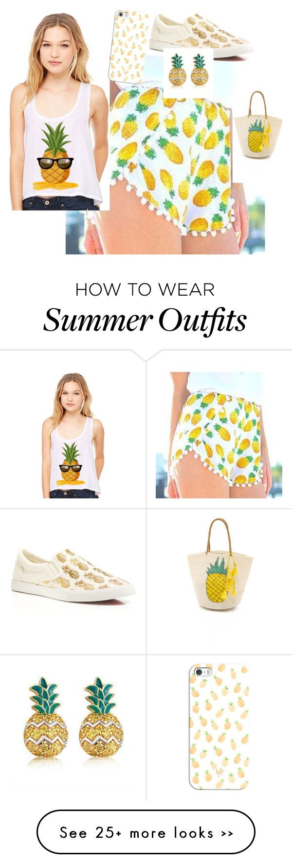 """Pineapple outfit"" by courtneybrown-iv on Polyvore featuring moda, Dream a Dream, Sensi Studio, BucketFeet, MBLife.com e Casetify"