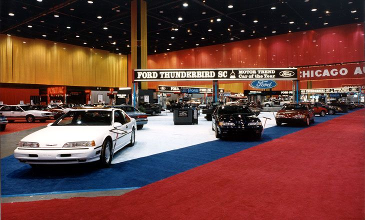 1989 Ford Thunderbird Exhibit At The Chicago Auto Show Ford