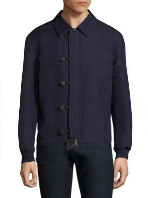 SALVATORE FERRAGAMO Silk Blend Blouson Jacket. #salvatoreferragamo #cloth #jacket