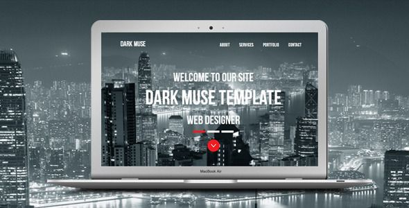 Dark Muse - One Page Parallax Template Template and Portfolio website