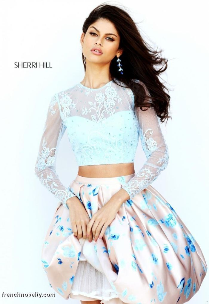 4fb41bf44c1 Sherri Hill 50764 Long Sleeve Short Party Dress
