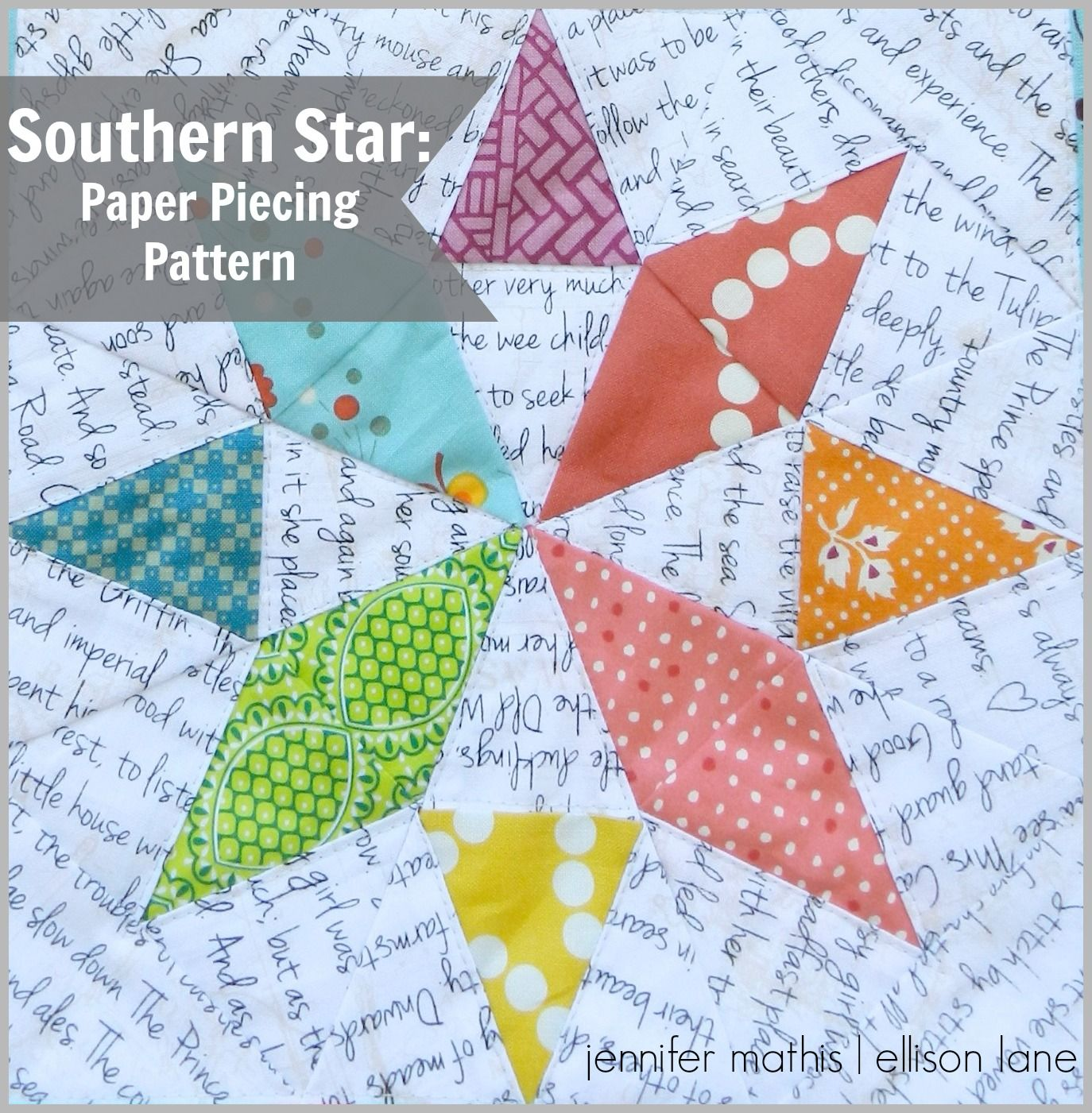 Free Paper Piecing Star Pattern - finishes 6