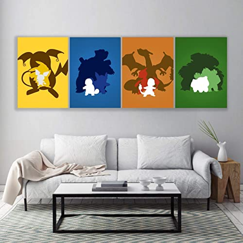 Photo of Minimalist Colorful pokemon Poster set, inspired pokemon poster, All Prints avialable in 9 SIZES and 3 type of MATERIALS