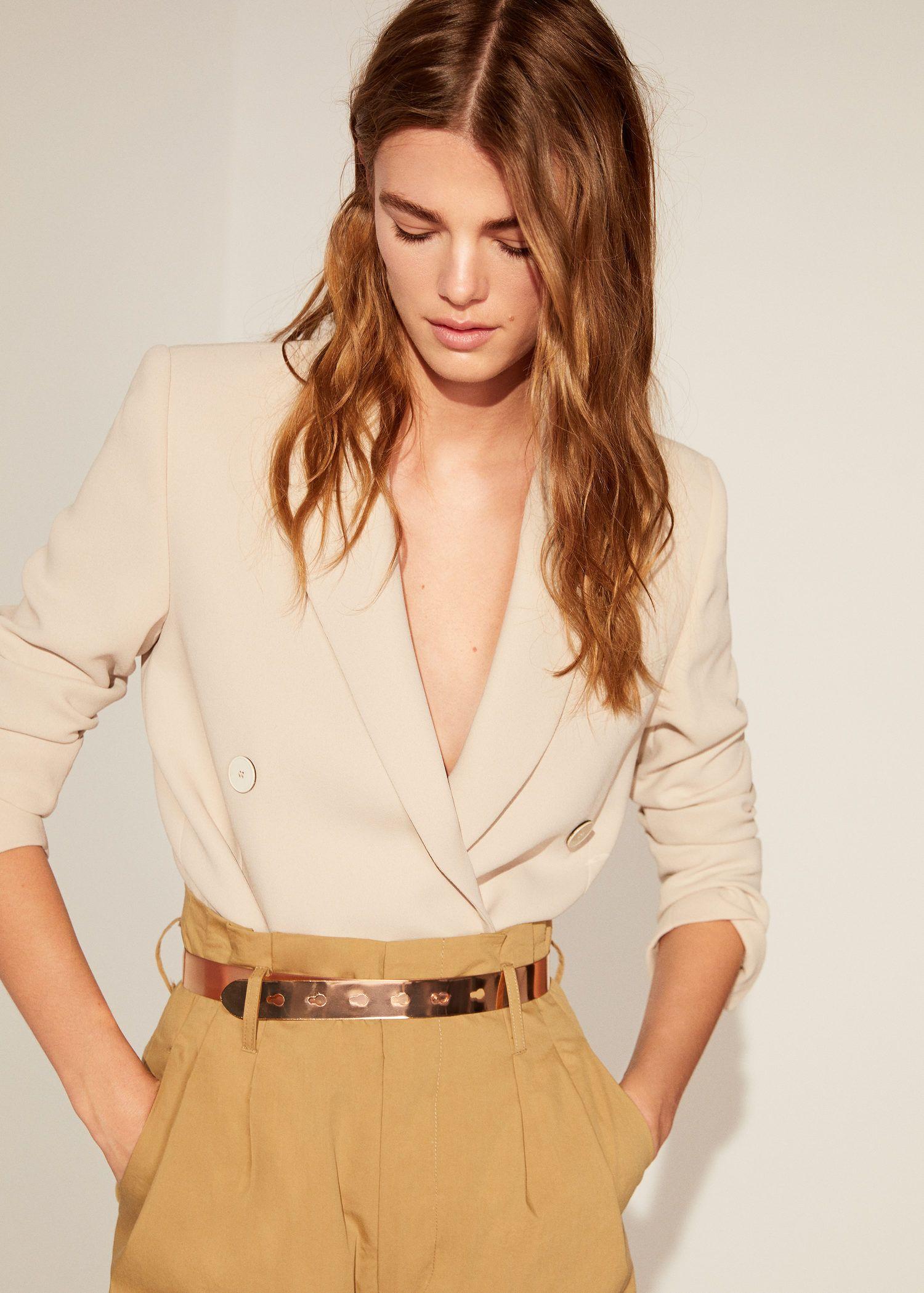 Cinturon Fino Metalico Fashion Mango Fashion