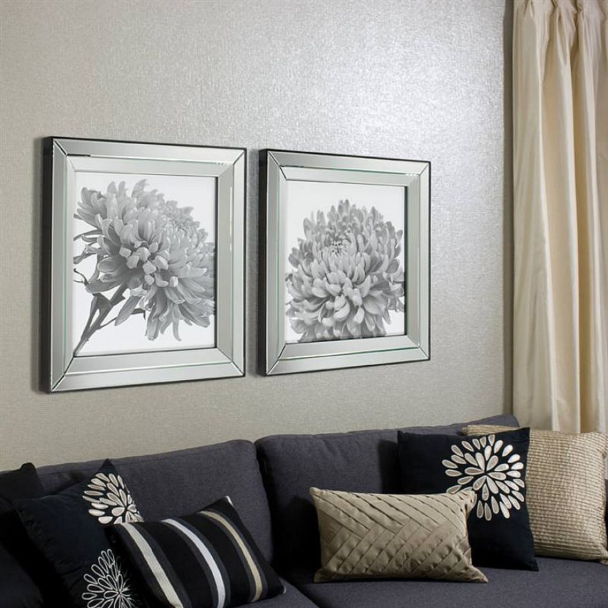 Wall Art In Mirror Frame : Mirror framed art on long wall katy