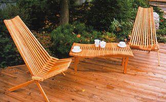 Folding Patio Chair   Cherry Wood Mayan Folding Chair