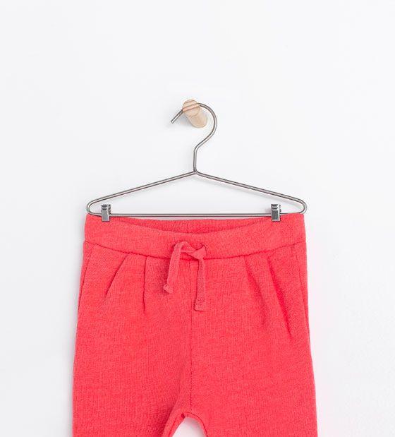 Image 3 de Pantalon molleton à taille élastiquée de Zara