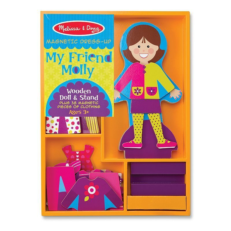 Melissa and Doug My Friend Molly Magnetic Dress-Up, Multicolor