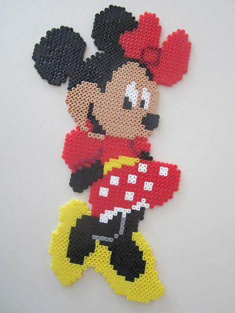 Minnie Mouse | perluuppskriftir | Perler, Hama perler