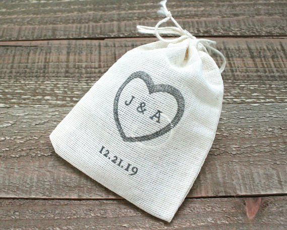 Personalized wedding ring bag 25 x 4 Drawstring ring warming bag